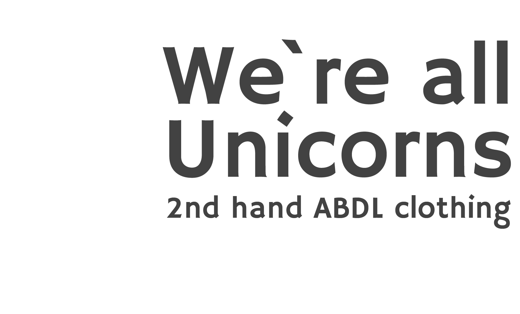 We're all Unicorns